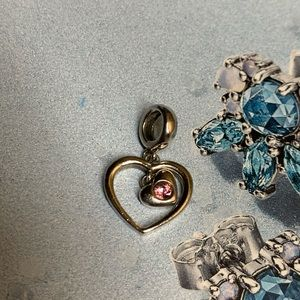 Chamilia pink Cz Heart Dangle